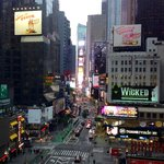 View on Time Square at breakfast