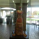 A dress made of tea bags!