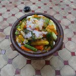 Vegetable and beef tagine