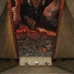 Looking up the staiwell at one of Orozco's murals.