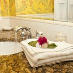 Private Baths in every room at Polkerris Bed and Breakfast.