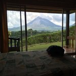 waking up in my room to see the volcano