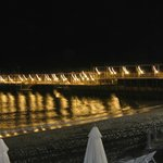 see at night and one of beach area