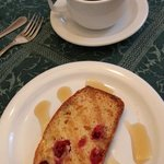 Cranberry bread with maple syrup