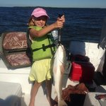 """Our 6-year old caught the 27"""" Redfish!"""