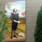 Picture on Side of one of the hotel buildings, Best Western Bard's Inn, Ashland, Oregon