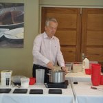 Simon (owner) leading a cookery competition