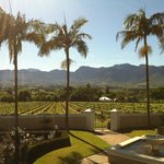 Stunning views from the terrace of Bosman's Restaurant ...