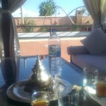 Mint tea on the roof terrace!