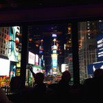 View from R Lounge into Times Square