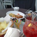 """""""complimentary"""" aperitivo snacks with 50 euro drinks!"""