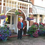 Mrs Everitt outside the Chudleigh