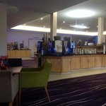 the lounge area at the Scarman Training and Conference Centre - beverages, cakes, sweets and fru