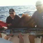 7 foot sailfish. We had a line out for 5 minutes when she got hooked.