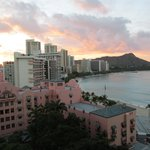 The Royal Hawaiian, Diamond Head and Gorgeous Sunset