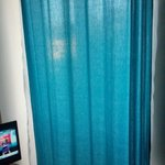 Curtains on bedroom window