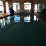 One of two views of indoor pool
