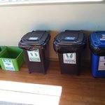 Recycle containers in kitchen