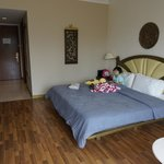 The room with the super king size bed