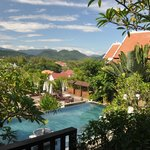 View from the room of the lovely pool area