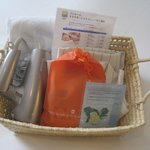 Basket of amenities for Woman room