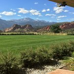 The view of the Garden of the Gods from our room!
