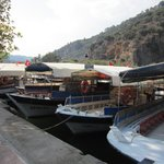 Little boats on the river in Dalyan