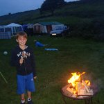 Campfires by the tent