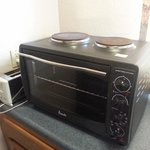 Interesting microwave with hot plates on top
