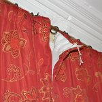 Curtains coming off rail