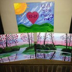 Our paintings from the PERFECT night at the BRYANT PARK HOTEL!!!