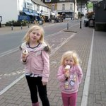 Gil's enjoying ice creams in lynton and lynmouth