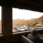 View from Goulding's Restaurant at Monument Valley, AZ