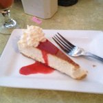 Super cheesecake, included in the Sunset Special meals.