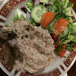 Cornish potato with tuna - really yummy and only 5£
