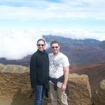 Kevin and Ashley on their honeymoon at the Haleakala Crater