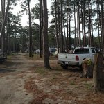 A view of the campground.