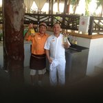 Orvelin our bartender and Diego our other waiter who took care of us all week.  They were AMAZIN