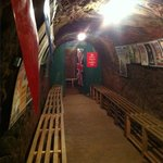 Down in the air raid shelters