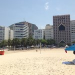 view of hotel from copacabana beach