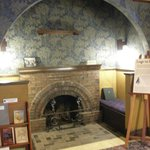 Fireplace to warm up after arriving - in museum mansion