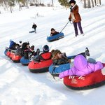 Kids sledding @ new years party