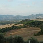 Rolling hills of Tuscany as seen from the hotel