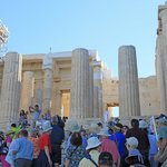 Queues at the entrance to the Acropolis