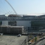 The Wembley Stadium from my window during the day