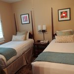 The second room of the family suite featured twin beds.