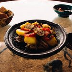 Delicious tagine for lunch. One of the best from our trip!
