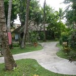 Hotel grounds at Hotel Robert Reimers, Majuro, Marshall Islands