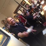 Friendly wine tasting manager in Healdsburg square
