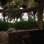 porch and beach view